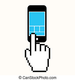 移動式 電話, スクリーン, クリック