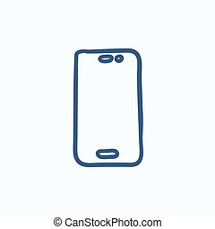 移動式 電話, スケッチ, icon.