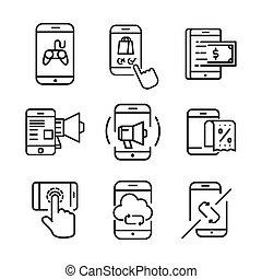 移動式 電話, セット, アイコン