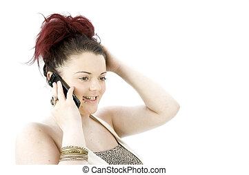 移動式 電話, ティーンエージャーの少女