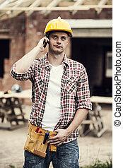 移動式 電話, 建築作業員