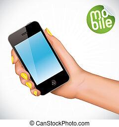 移動式 電話, 手を持つ