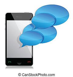 移動式 電話, 泡, スピーチ, イラスト
