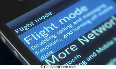 移動式 電話, 飛行, モード, イラスト