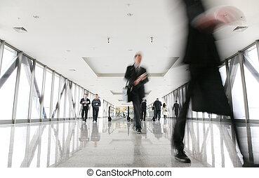 移動, 人群, 在, 走廊, 2