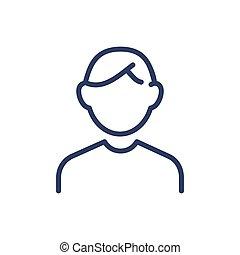 稀薄的线, 图标, avatar