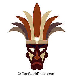 種族のマスク, 白い背景