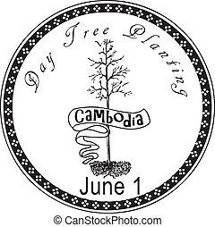 種植樹, 天, 柬埔寨