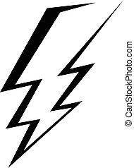稲光の電光, ベクトル, アイコン