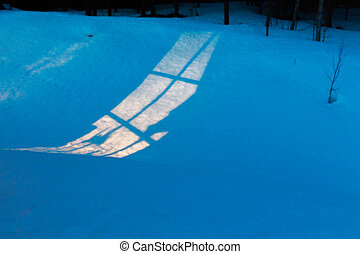 稲光, 雪, の上