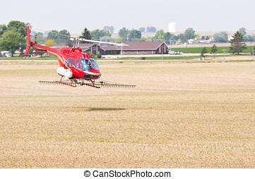 穀物, スプレーをかける, colorado, アメリカ, ヘリコプター