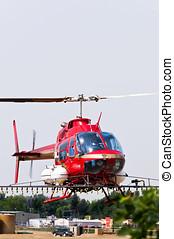穀物, ヘリコプター, スプレーをかける