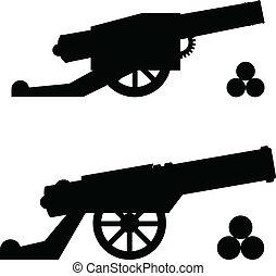 穀粒, シルエット, 銃