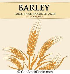 穀粒, 大麦, デザイン