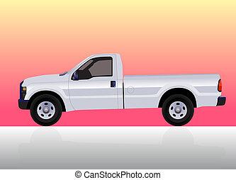 積み込みの トラック, 白