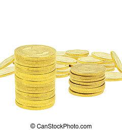 積み重ね, コイン, 金