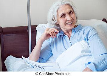 積極, 醫院, 婦女, 老, 沃德