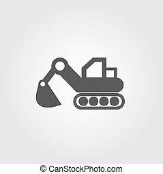 積込み機, ベクトル, アイコン
