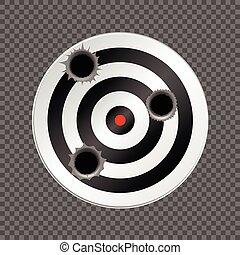 穴, ターゲット, 銃弾