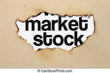 穴, ペーパー, 市場, 株