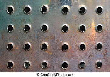 穴, 金属, 背景