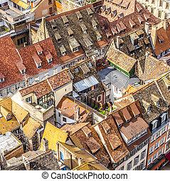 空中写真, の, ストラスブール, へ, ∥, 古い 都市