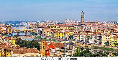 空中写真, の, フィレンツェ