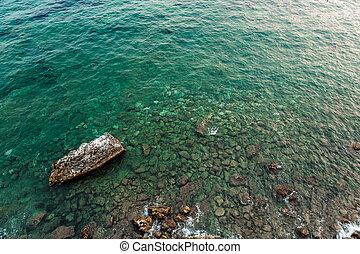 空中写真, の, ∥, 石, 上に, ∥, 底, の, ∥, アドリア海