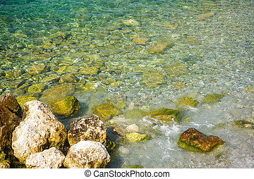 空中写真, の, 石, 上に, 底, の, アドリア海