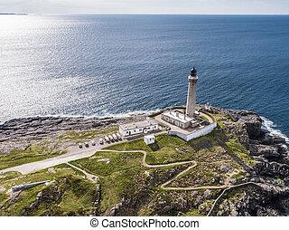 空中写真, の, ardnamurchan, 灯台