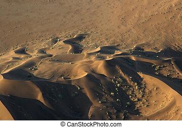 空中写真, の, ∥, namib 砂漠