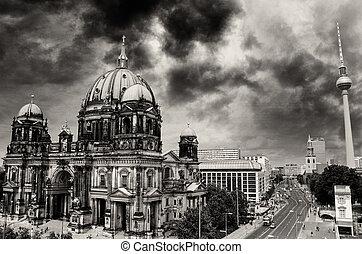 空中写真, ベルリンの カテドラル, platz, アレキサンダー