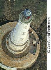 空中写真, 歴史的, 灯台, の, cordouan, gironde, 河口