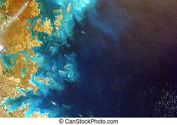 空中写真, 浜, 海洋