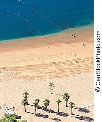 空中写真, 砂のビーチ