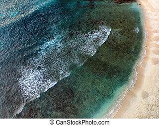 空中写真, 美しい, 海岸