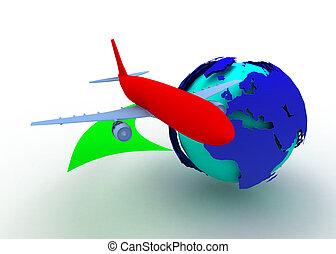 空中旅行, 概念