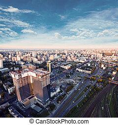 空中的觀點, ......的, 基輔, city., ukraine.