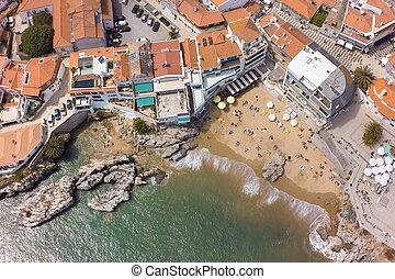 空中的观点, 在中, cascais, 海岸线, 近, 里斯本, 在中, 葡萄牙