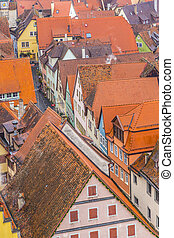 空中, 在中, rothenburg ob der tauber