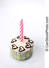空想, birthday, cupcake