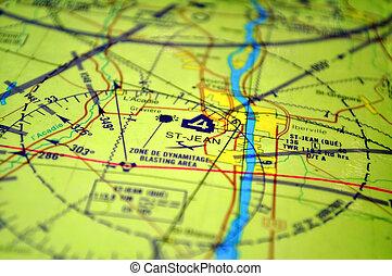 空气, 导航, 地图