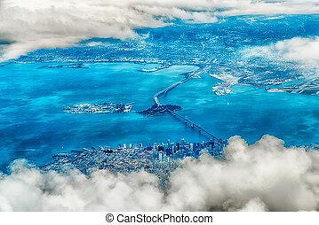 空気の 写真, の, サンフランシスコ