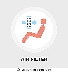 空気, フィルター, 平ら, アイコン