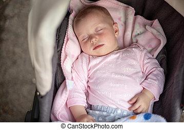 空気。, 乗り物, 赤ん坊, 睡眠