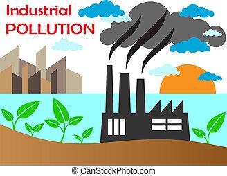 空気, 工場, 汚染