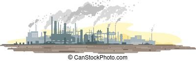 空気, 植物, 産業公害