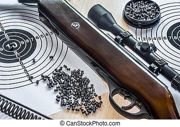 空気, 銃弾, ターゲット, 銃