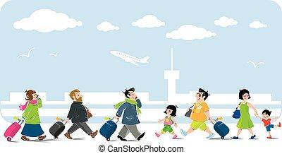空気, 面白い, セット, 乗客