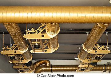 空氣, 條件, 系統, pipe.